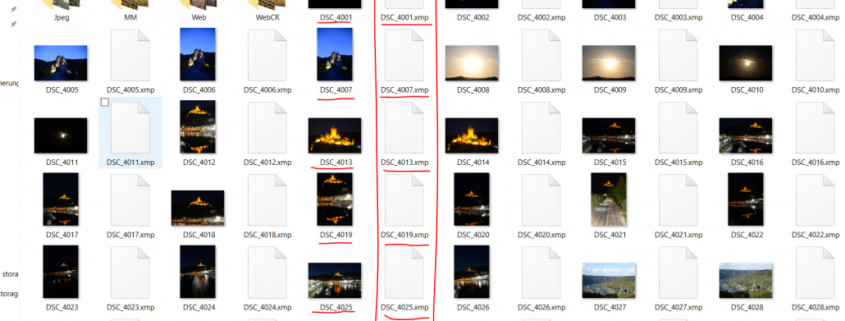 xmp files folder, how to save xmp files in lightroom