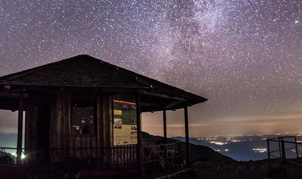 At nighttime, minimum light pollution offers amazing sky gazing. This sky looks surreal, but it is as real as it gets.