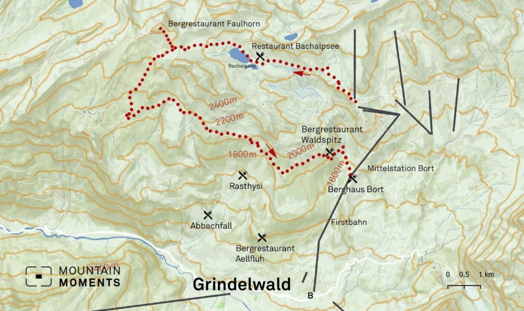Augstmatthorn photo spot and Bachalpsee can be combined with a direct hike via Brienz - Axalp - Tschingelfeld - Tierwang (2416m) – (tour: medium-difficulty)
