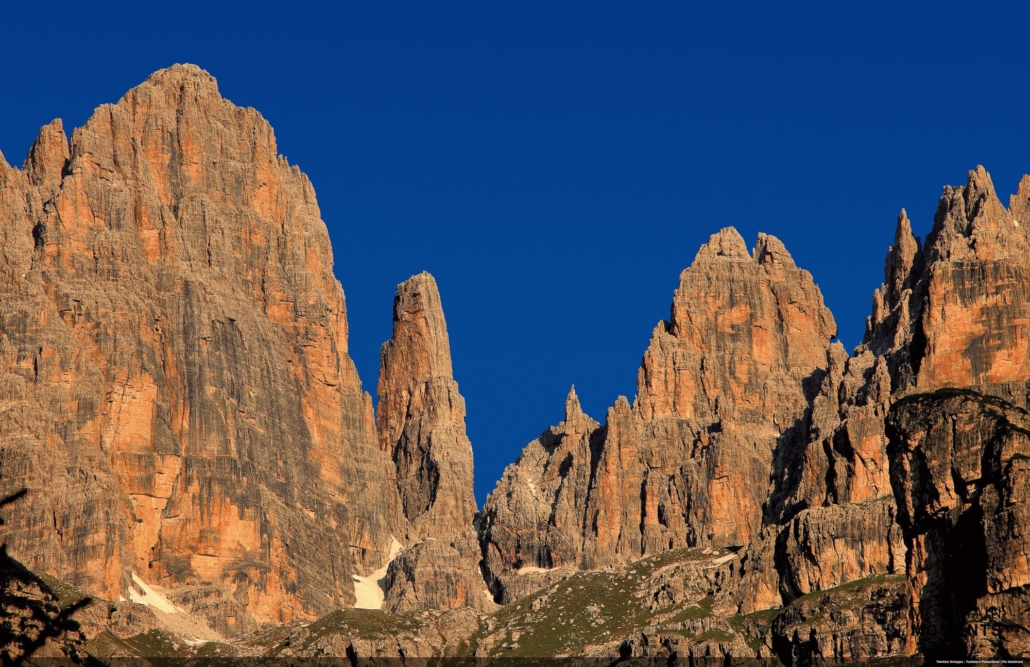The sunset at the Alimonta hut with the glowing Brenta walls is often worth the trip alone.
