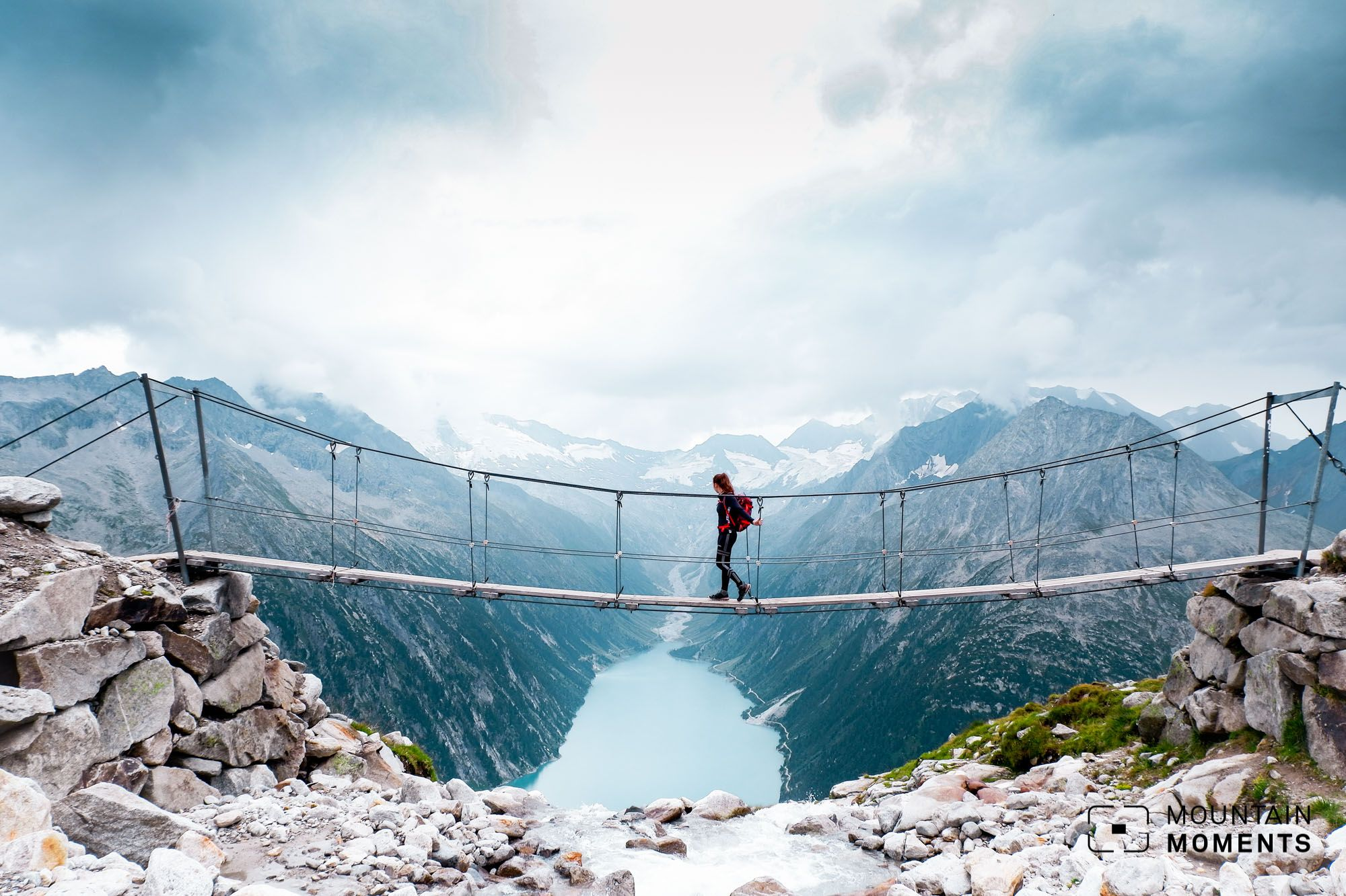 Hover Over Zillertal on a Suspension Bridge in Tyrol   Mountain ...