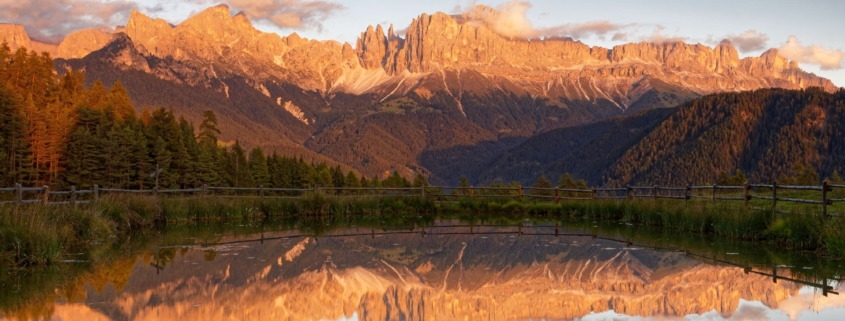 Your Light Rosengarten Hike - Wuhnleger Lake Mirrors Red Mountain Peaks