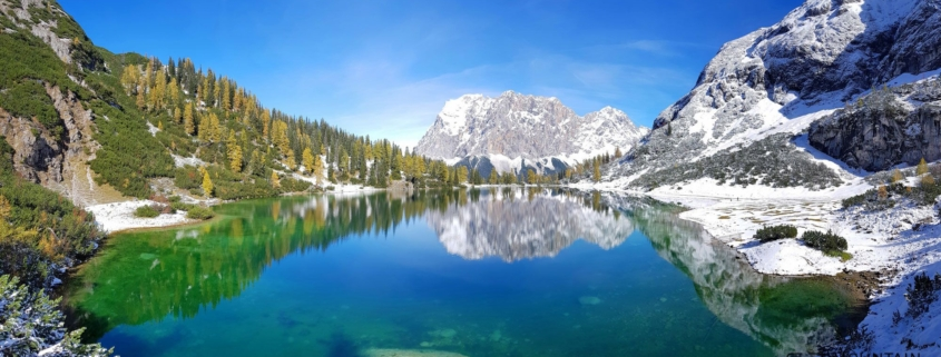 Hike High on Seebensee Mountain Lake With Beautiful Zugspitze View