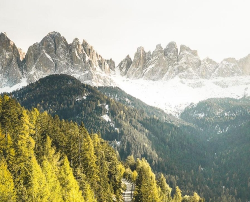 In the heart of the Dolomites, on the Adolf Munkel Trail of Villnöss Valley
