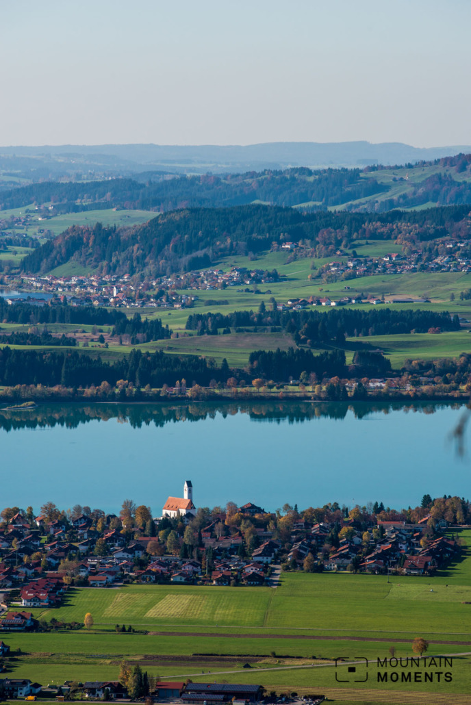 Wonderful views of the Bavarian cultural landscape from Tegelberg (with Forggensee)